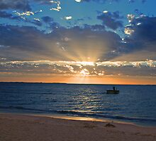Coogee Beach Sunset by Barry  Dux