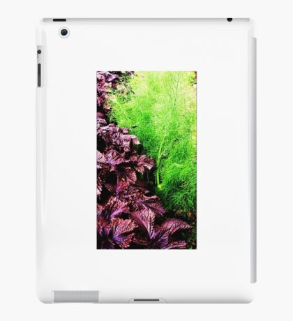 Vegetables growing at the allotment iPad Case/Skin