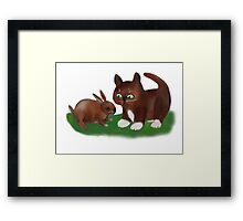 Almost Nose to Nose Framed Print