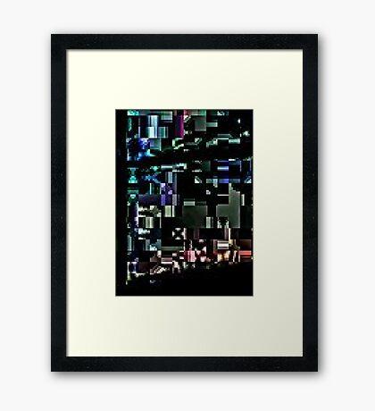 X Minecraft Framed Print