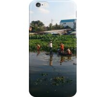 Buddhist monks at work in chiang mai, thailand  iPhone Case/Skin