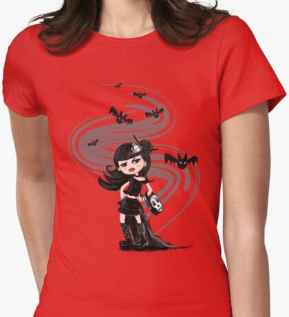 Girl in black with Bats T-Shirt