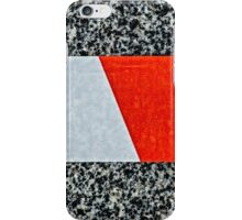 Red warning tape Feel free to cross iPhone Case/Skin
