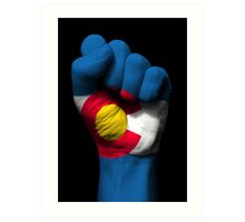 Flag of Colorado on a Raised Clenched Fist  Art Print