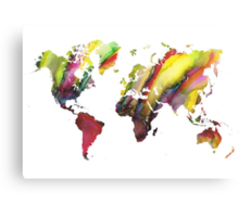 Colored world map Canvas Print