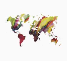 Colored world map Kids Clothes