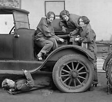 Young Lady Auto Mechanics, 1927 by historyphoto