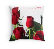 ~ red roses for my valentine ~ Throw Pillow