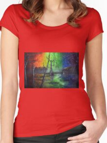 Back In The Bayou By Sherry Arthur Women's Fitted Scoop T-Shirt