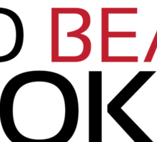 Training to beat Goku - Mr.Satan - Black Letters Sticker