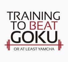 Training to beat Goku - Yamcha - Black Letters by m4x1mu5