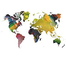 New world map Photographic Print