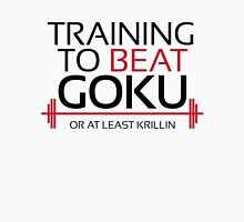 Training to beat Goku - Krillin - Black Letters Unisex T-Shirt