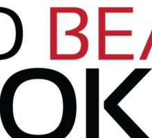 Training to beat Goku - Krillin - Black Letters Sticker