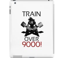 Train over 9000-BW Black Letters iPad Case/Skin