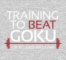 Training to beat Goku- Mr.Satan Kids Clothes
