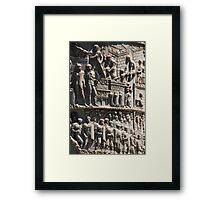 History Engraved Framed Print