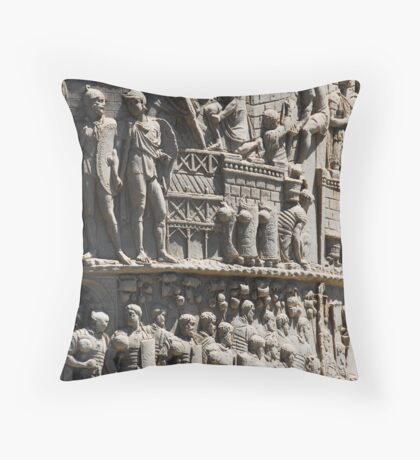 History Engraved Throw Pillow