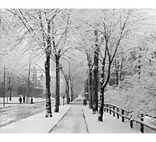 Winter Street Scene, 1910 Photographic Print