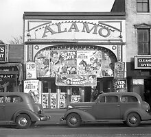 The Alamo Movie Theater, 1937 by historyphoto