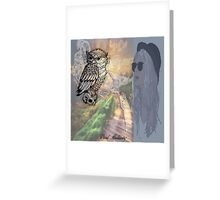TOKING ON OWL ROAD Greeting Card