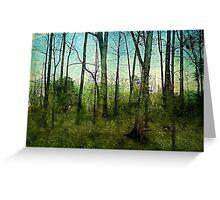 Forest rain Greeting Card