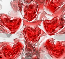 Hearts Afire Abstract by Alexander Butler