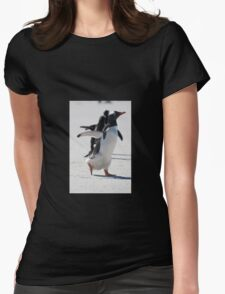 Off he goes Womens Fitted T-Shirt