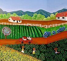 FINCA SAN. IGNACIO   (Nicaraguan Folk Art.) by mariaGonzalez