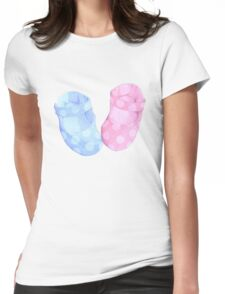 Baby Twins Booties T-shirt Womens Fitted T-Shirt