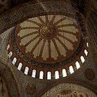 """DOMED CEILING """"BLUE MOSQUE"""" ISTANBUL, TURKEY by Edward J. Laquale"""