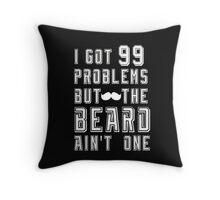 Beard Typography  Throw Pillow