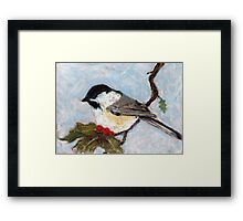Winter Tweet Framed Print
