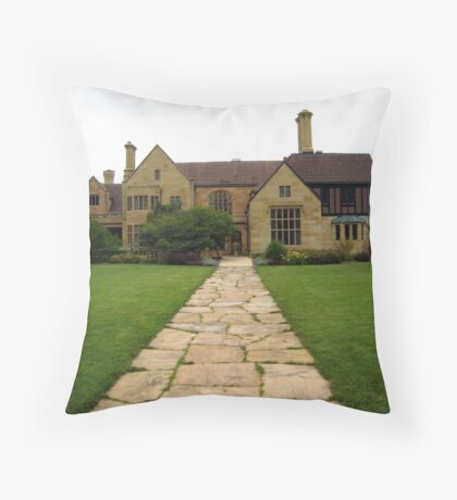 Antique Mansion Throw Pillow