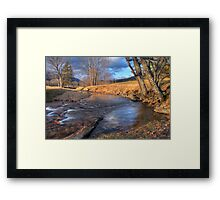 Scene By The Brook Framed Print