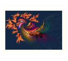 Dragon abstract fractal Art Print