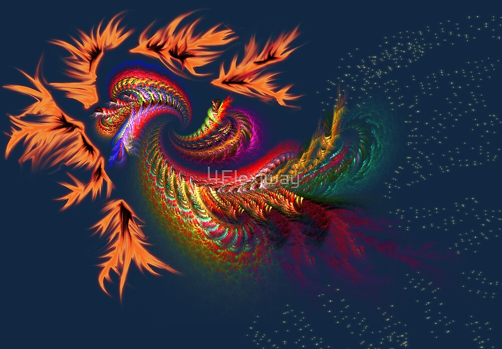 Dragon abstract fractal by 4Flexiway