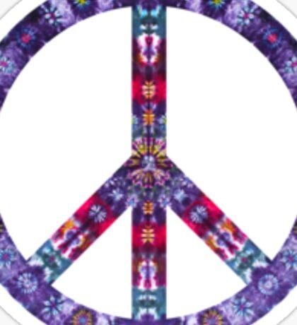 Peace Sign Tie Dye Sticker