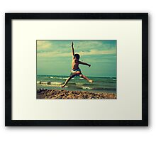 I wish I could fly Framed Print
