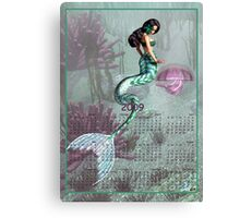 Mermaid & Jelly Fish - Month at a Glance 2009 calendar Canvas Print