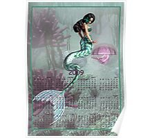 Mermaid & Jelly Fish - Month at a Glance 2009 calendar Poster