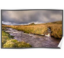 Stream and Barn on the way to Keld Poster