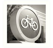 Bike Sign Art Print