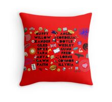 Buffy and Angel Throw Pillow