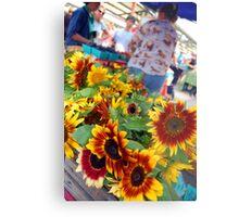 Farmers Market Sunflowers Metal Print