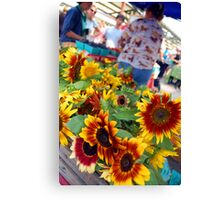 Farmers Market Sunflowers Canvas Print