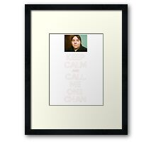 KEEP CALM and CALL ME ONII CHAN Framed Print
