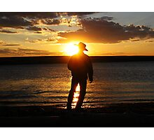Tranquil Cowboy Photographic Print