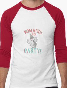 Koalafied To Party! Funny Koala  Men's Baseball ¾ T-Shirt
