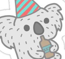 Koalafied To Party! Funny Koala  Sticker